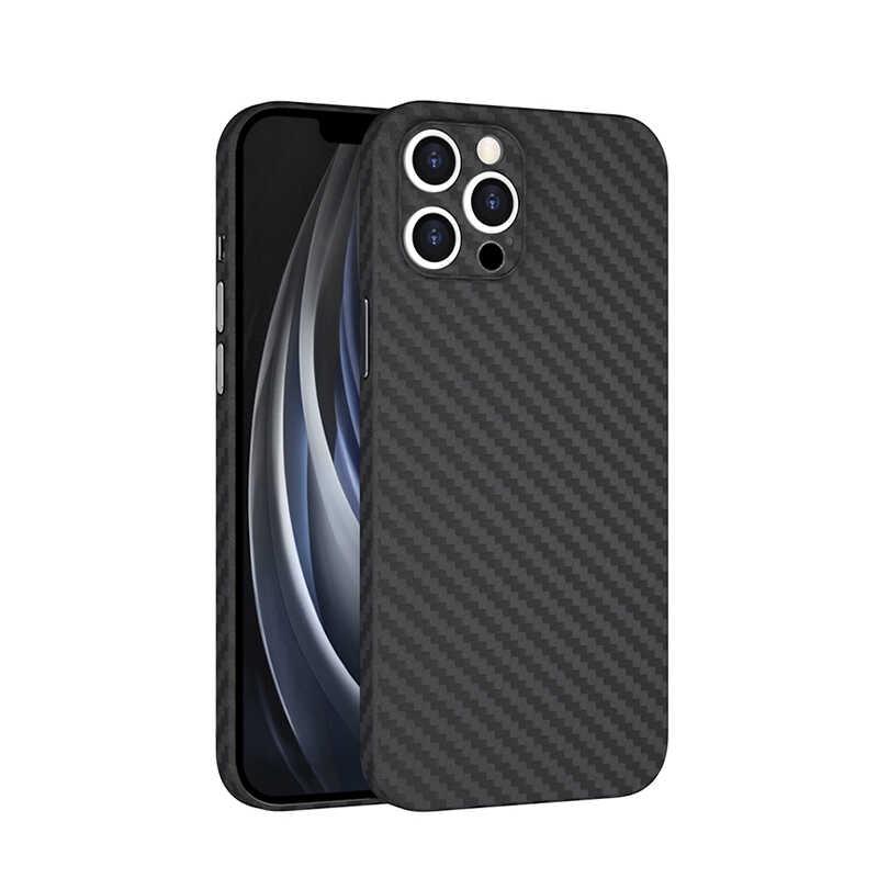 Apple iPhone 12 Pro Kılıf Wiwu Skin Carbon PP Kapak