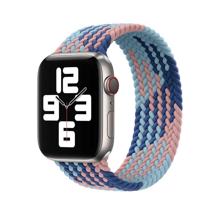 Apple Watch 44mm Wiwu Braided Solo Loop Contrast Color Large Kordon