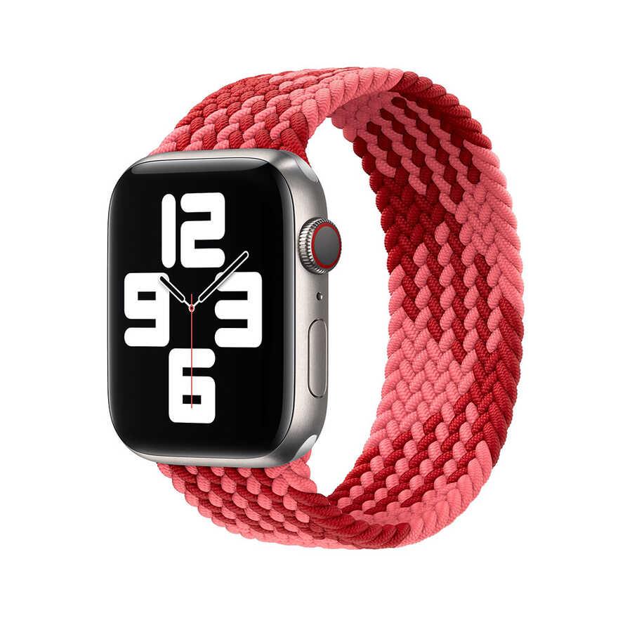 Apple Watch 44mm Wiwu Braided Solo Loop Contrast Color Small Kordon