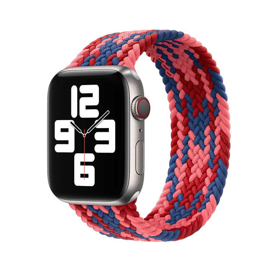 Apple Watch 40mm Wiwu Braided Solo Loop Contrast Color Large Kordon