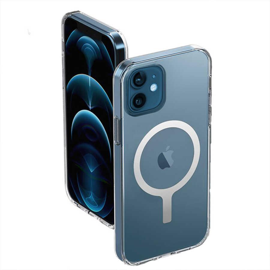 Apple iPhone 12 Kılıf Wiwu Magnetic Crystal Case