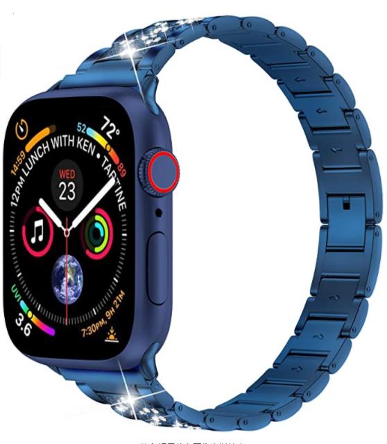 Apple Watch 44mm Wiwu Three Beads Set Auger Metal Kordon