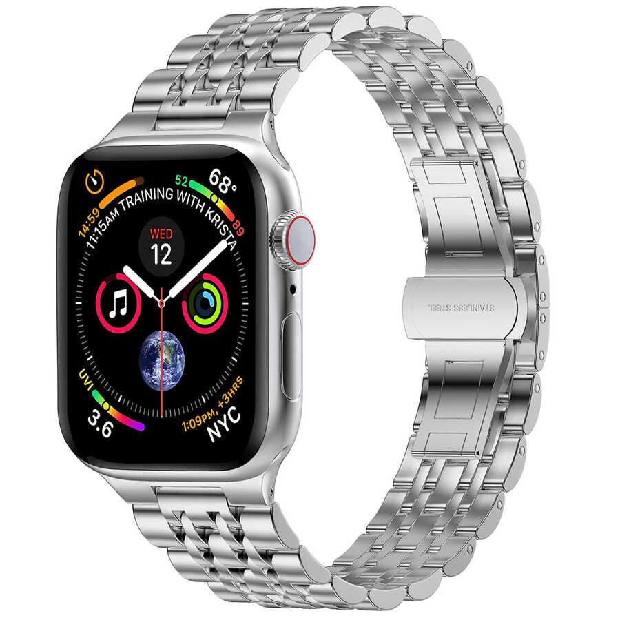 Apple Watch 38mm Wiwu Seven Beads Steel Belt Metal Kordon