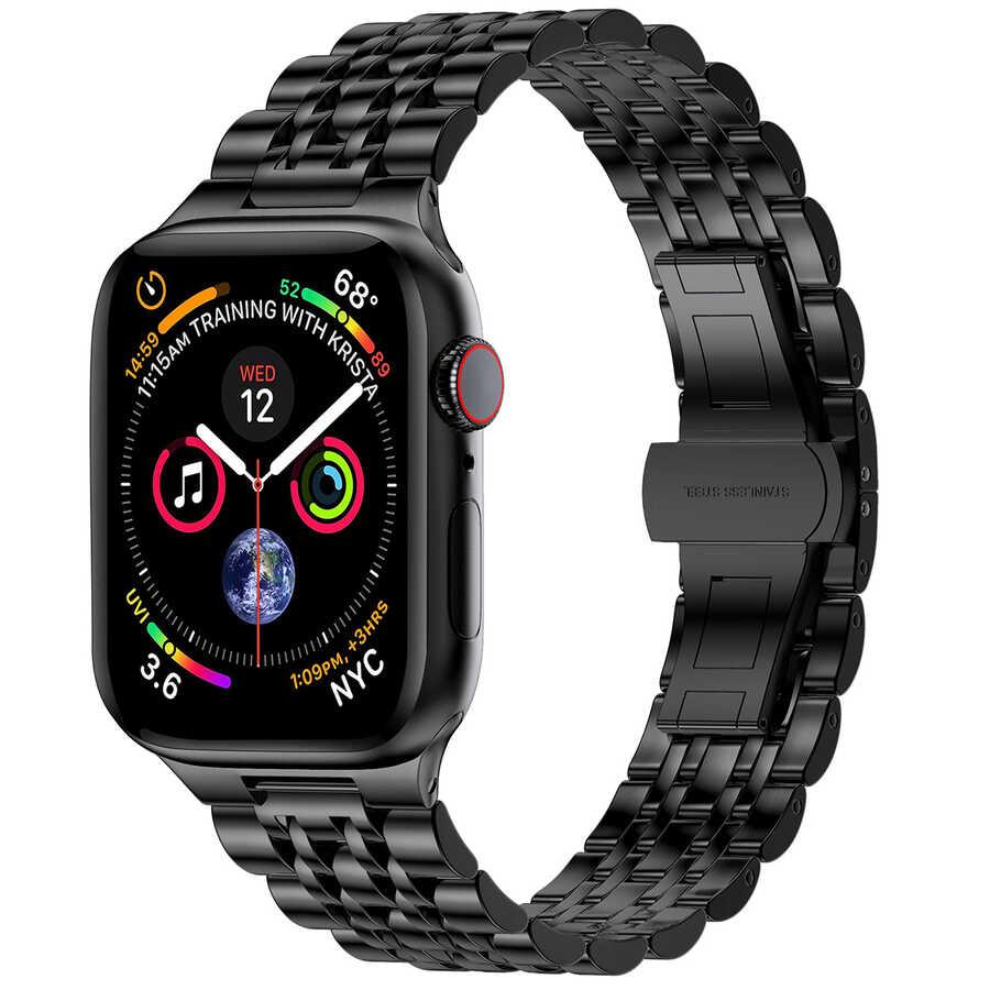 Apple Watch 42mm Wiwu Seven Beads Steel Belt Metal Kordon