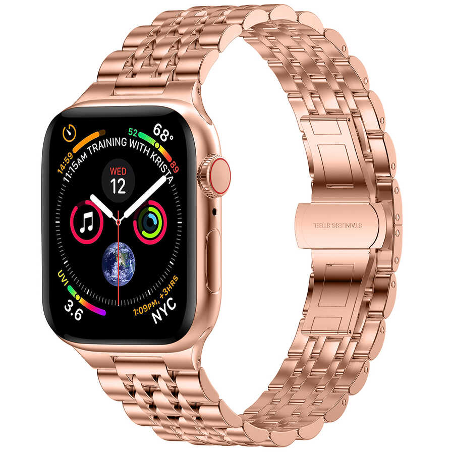 Apple Watch 40mm Wiwu Seven Beads Steel Belt Metal Kordon