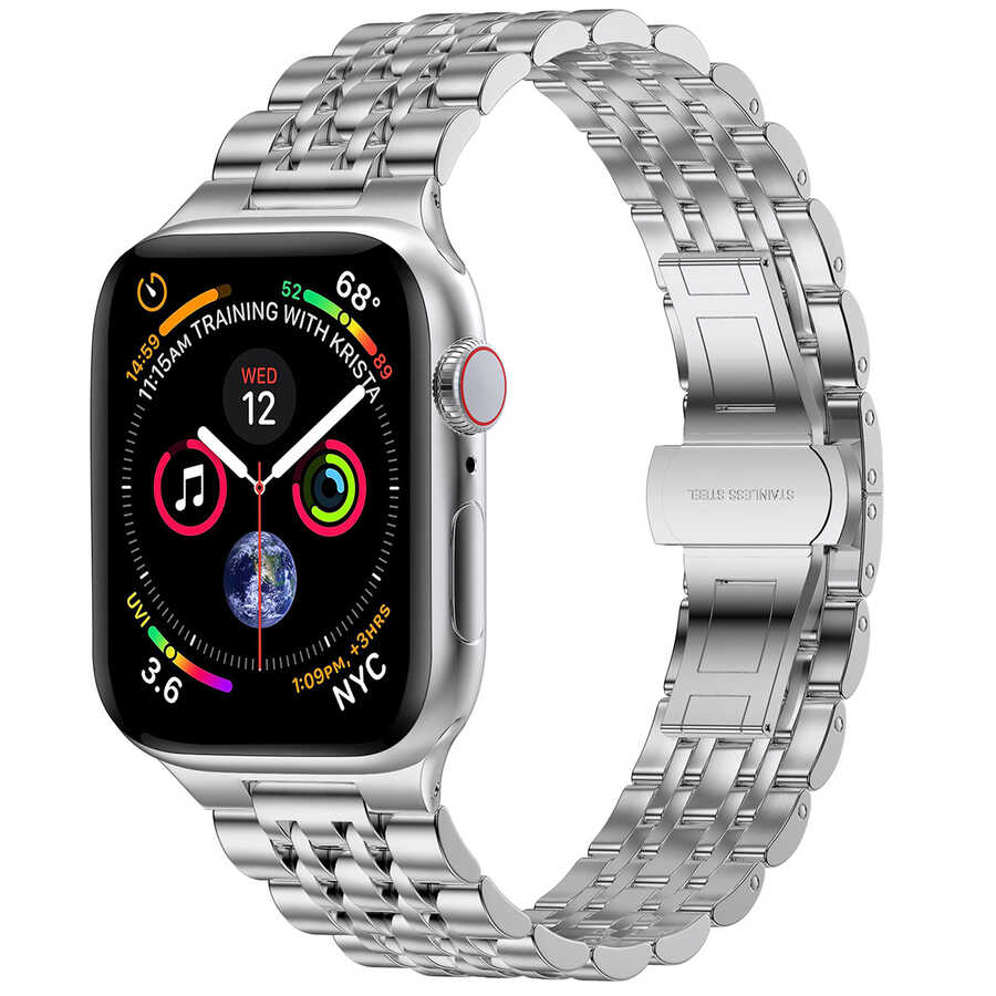 Apple Watch 44mm Wiwu Seven Beads Steel Belt Metal Kordon