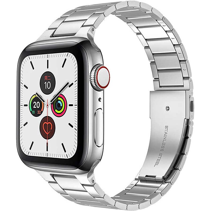 Apple Watch 44mm Wiwu Ultra Thin Steel Belt Three Beads Metal Kordon