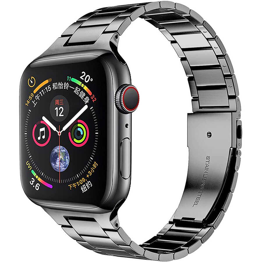 Apple Watch 40mm Wiwu Ultra Thin Steel Belt Three Beads Metal Kordon