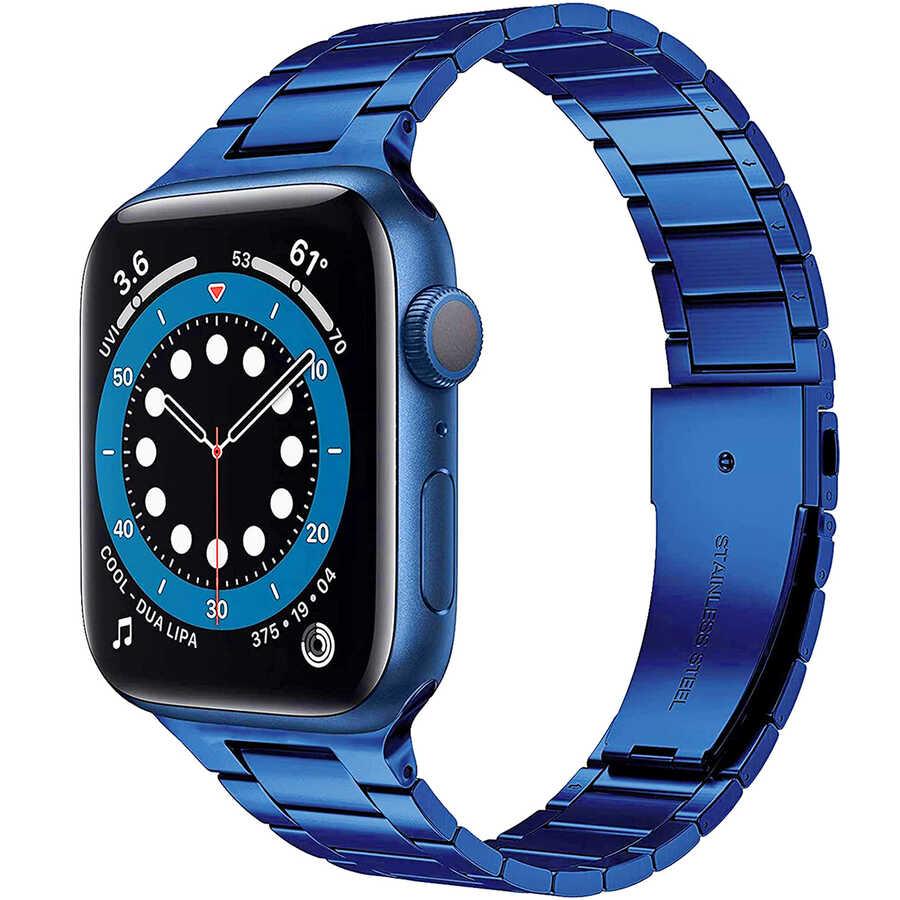 Apple Watch 38mm Wiwu Ultra Thin Steel Belt Three Beads Metal Kordon