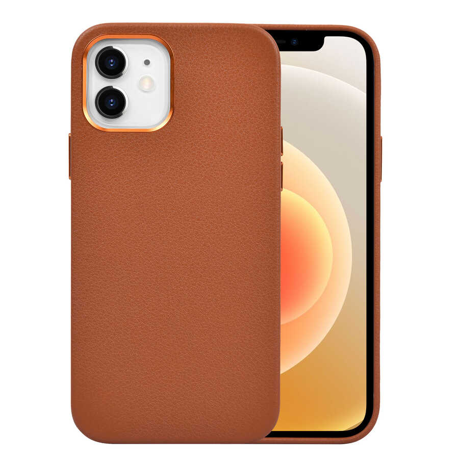 Apple iPhone 12 Kılıf Wiwu Calfskin Case