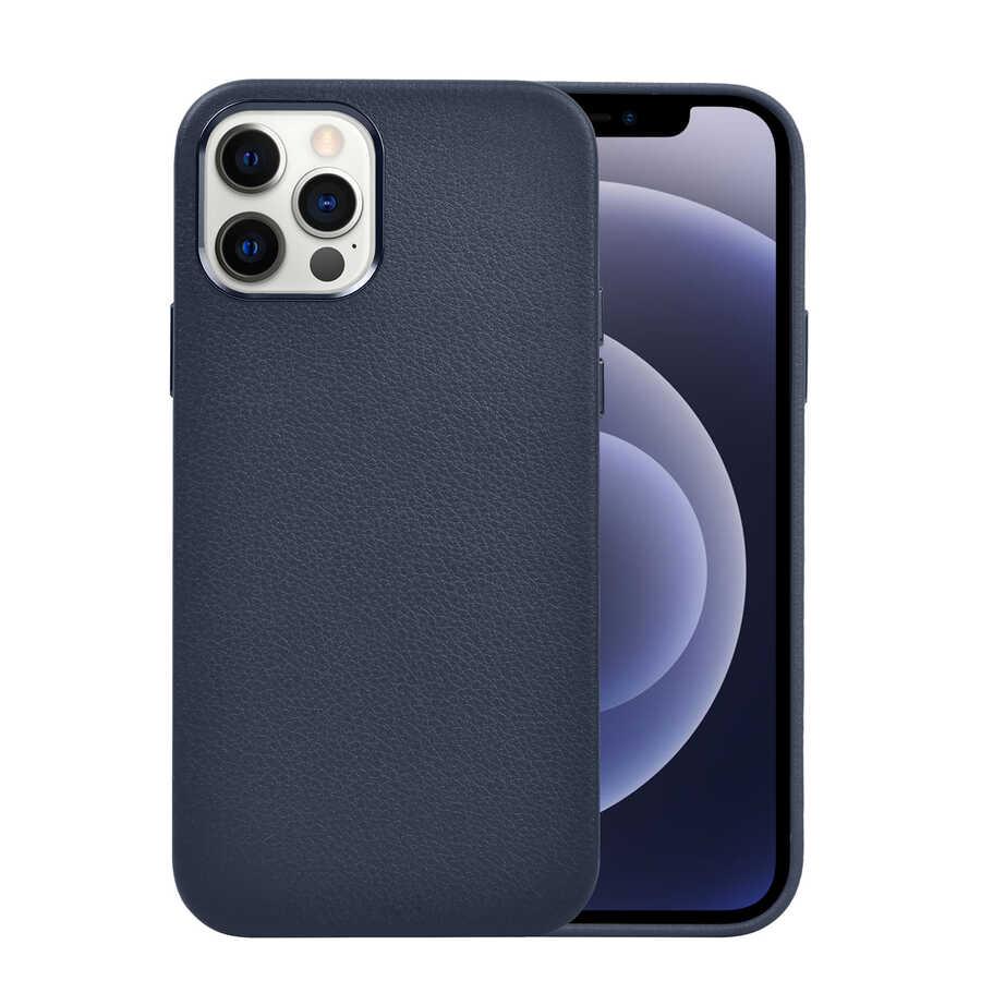 Apple iPhone 12 Pro Kılıf Wiwu Calfskin Case