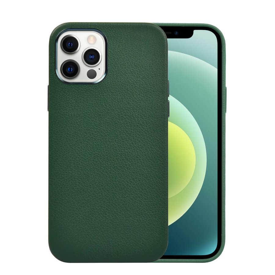 Apple iPhone 12 Pro Max Kılıf Wiwu Calfskin Case