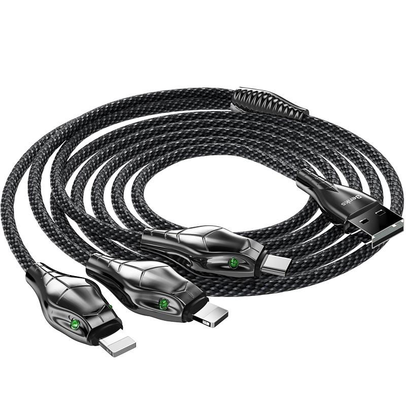 Benks D27 3 in 1 Snake Cable Lightning+Lightning+Type-C 1.5M