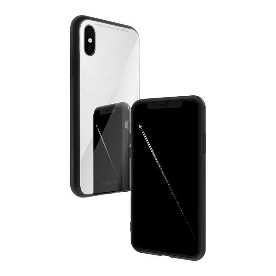 Apple iPhone X Kılıf Roar Mira Glass Back Cover