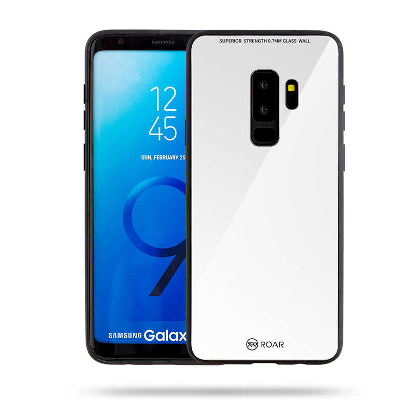 Galaxy S9 Plus Kılıf Roar Mira Glass Back Cover