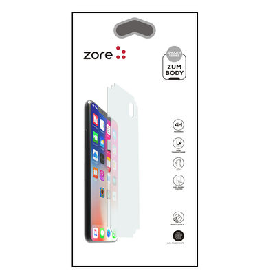 Apple iPhone 12 Pro Max Zore Mat Zum Body Arka Koruyucu