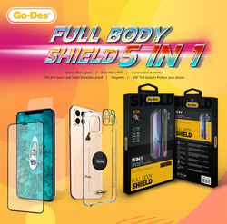 Galaxy Note 10 Plus Go Des 5 in 1 Full Body Shield - Thumbnail