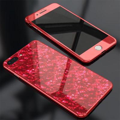 Apple iPhone 7 Plus Kılıf Voero Desenli 360 Magnet Case