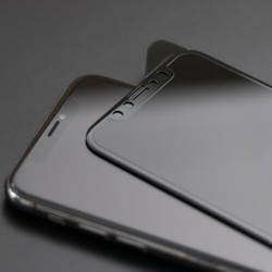 Apple iPhone XR 6.1 5D Privacy Cam Ekran Koruyucu - Thumbnail