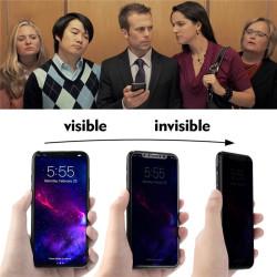 Apple iPhone XS Max 6.5 5D Privacy Cam Ekran Koruyucu - Thumbnail