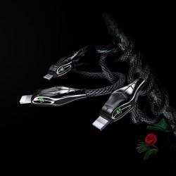 Benks D27 3 in 1 Snake Cable Lightning+Lightning+Micro 1.5M - Thumbnail