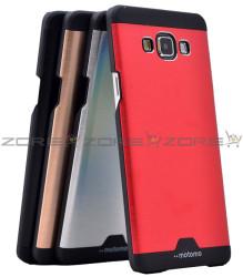 Galaxy A7 Kılıf Zore Metal Motomo Kapak - Thumbnail