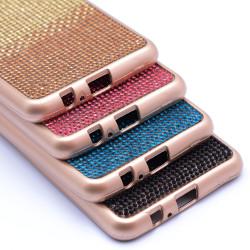 Galaxy A8 2018 Kılıf Mat Lazer Taşlı Silikon - Thumbnail
