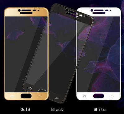 Galaxy C9 Pro Zore Ekranı Tam Kaplayan Düz Cam Koruyucu