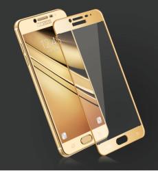 Galaxy C9 Pro Zore Ekranı Tam Kaplayan Düz Cam Koruyucu - Thumbnail