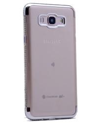 Galaxy J3 2017 Kılıf Zore Kenarı Tek Sıra Taşlı Silikon - Thumbnail