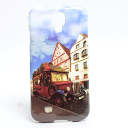 Galaxy S4 Kılıf Zore Şehirli Desenli Silikon - Thumbnail