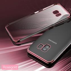 Galaxy S9 Kılıf Dört Köşeli Lazer Silikon - Thumbnail