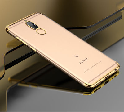 Huawei Mate 10 Lite Kılıf Dört Köşeli Lazer Silikon