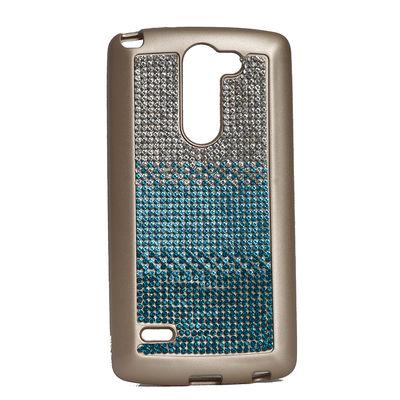 LG G3 Stylus Kılıf Zore Mat Lazer Taşlı Silikon