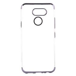 LG K40S Kılıf Zore Dört Köşeli Lazer Silikon - Thumbnail