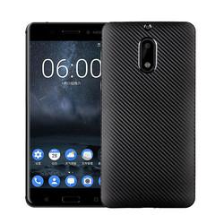 Nokia 6 Kılıf İ-Zore Karbon Silikon - Thumbnail