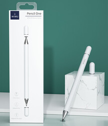 Wiwu Pencil Passive Stylus 2 in 1 Dokunmatik Çizim Kalemi - Thumbnail