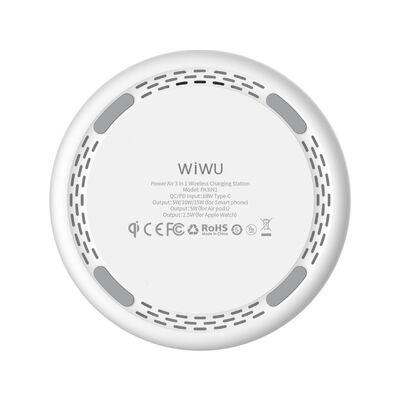 Wiwu Power Air 3 in 1 Kablosuz Şarj Standı