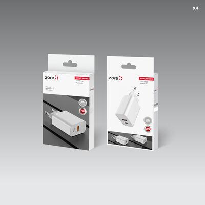 Zore XMac Serisi X4 22W Seyahat Şarj Başlığı